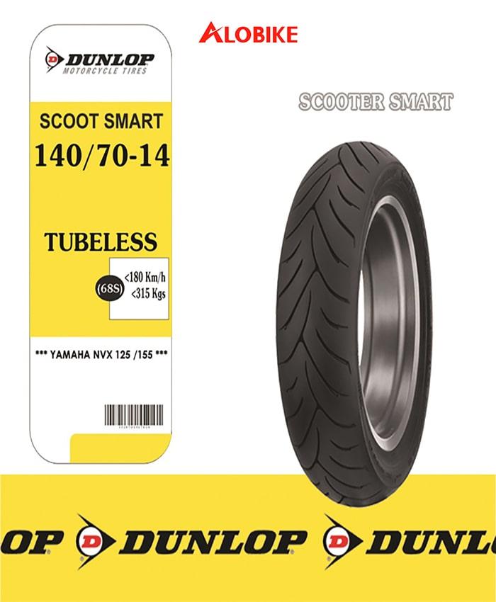 Lốp xe máy Dunlop 140/70-14 SC SMART 61P TL