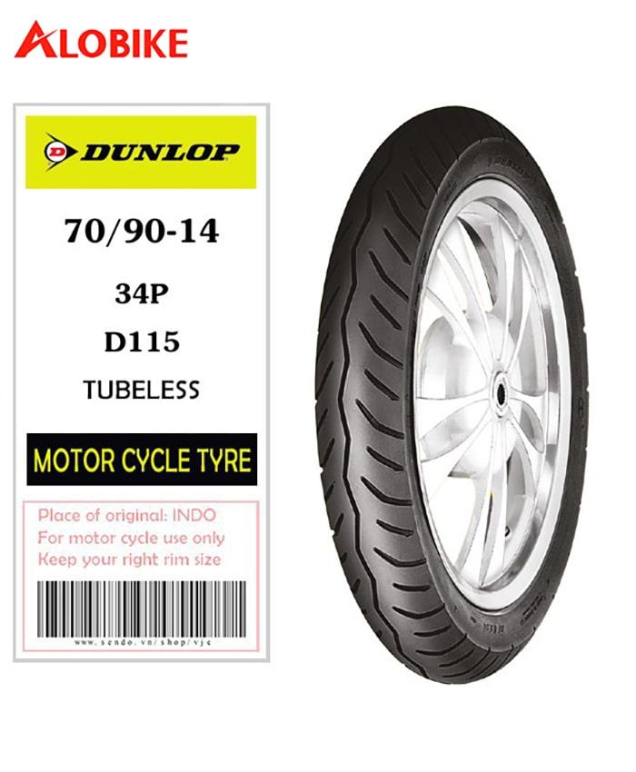 Lốp Dunlop 70/90-14 34P/TL D115