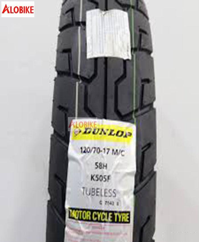 Lốp xe máy Dunlop 120/70-17 K505F 58H TL