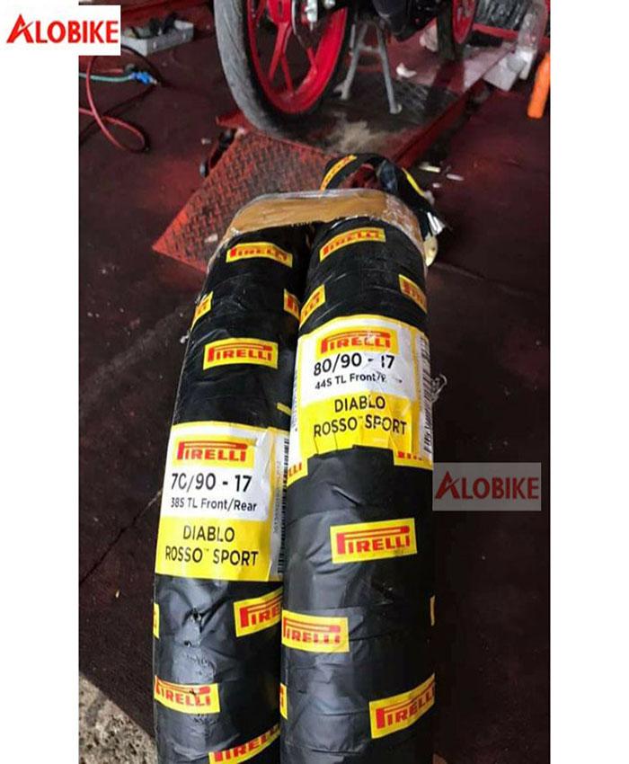 Lốp Pirelli 80/90 - 17 Diablo Rosso Sport