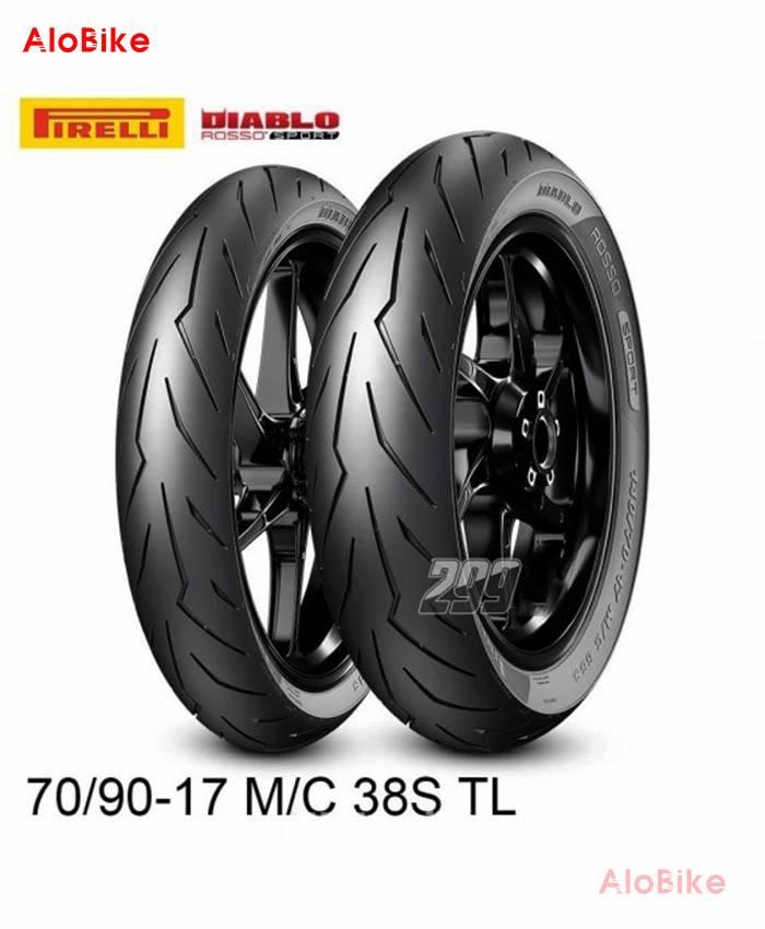 Lốp Pirelli 70/90 - 17 Diablo Rosso Sport cho xe Exciter, Dream, Wave