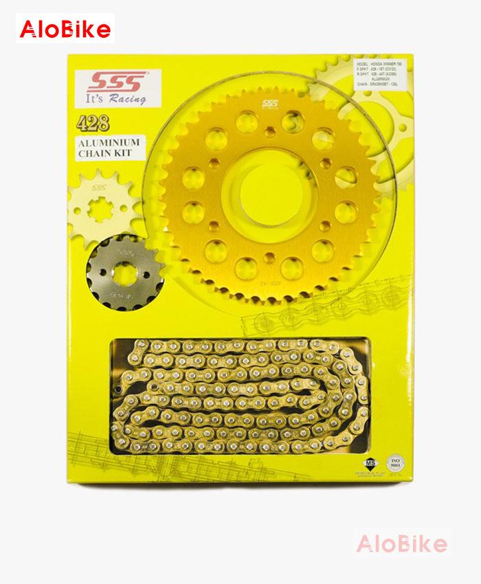 Bộ nhông sên dĩa SSS chính hãng cho Yamaha Exciter 135